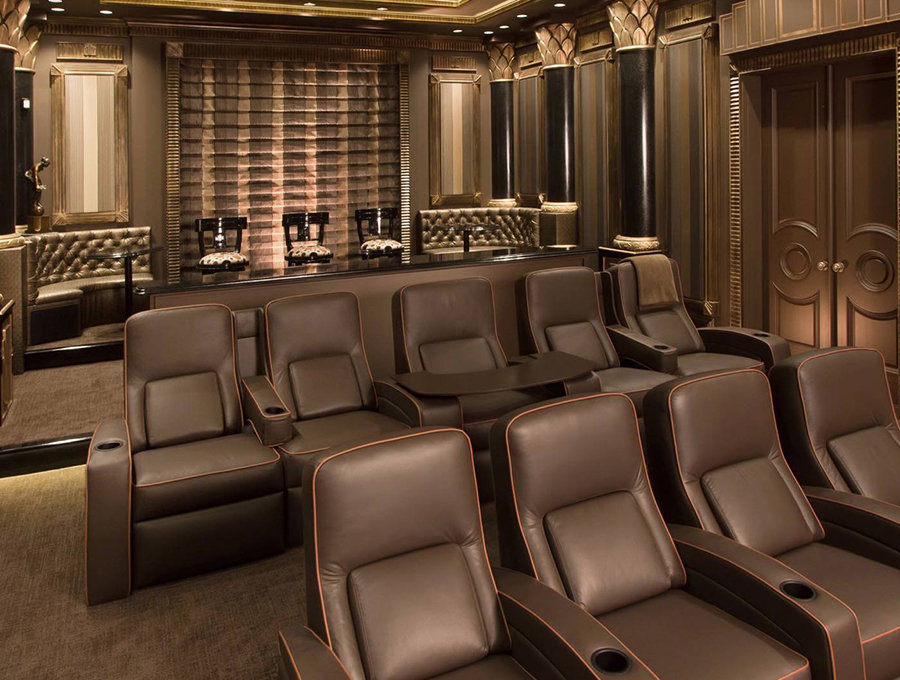The Art of Merging Practicality and Extravagance in Home Theater Design